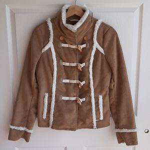 NWOT Idra Kai Faux Shearling Toggle Coat Size 2
